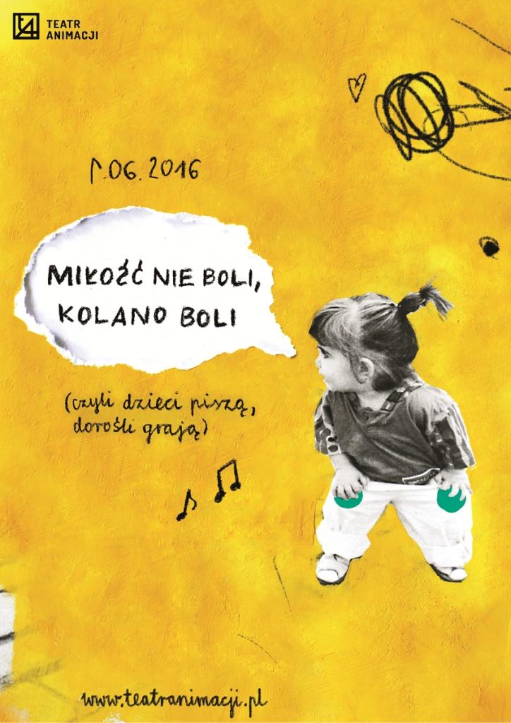 """""""Miłość nie boli, kolano boli"""", reż. Artur Romański – plakat (źródło: materiały prasowe organizatora)"""
