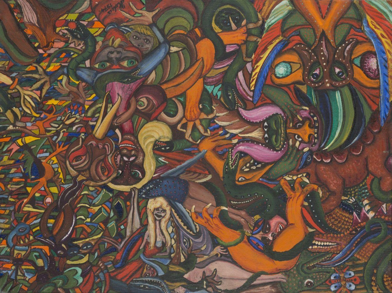 """Ludwik Holesz, """"Era karbońska"""", 1974 (źródło: materiały prasowe organizatora)"""