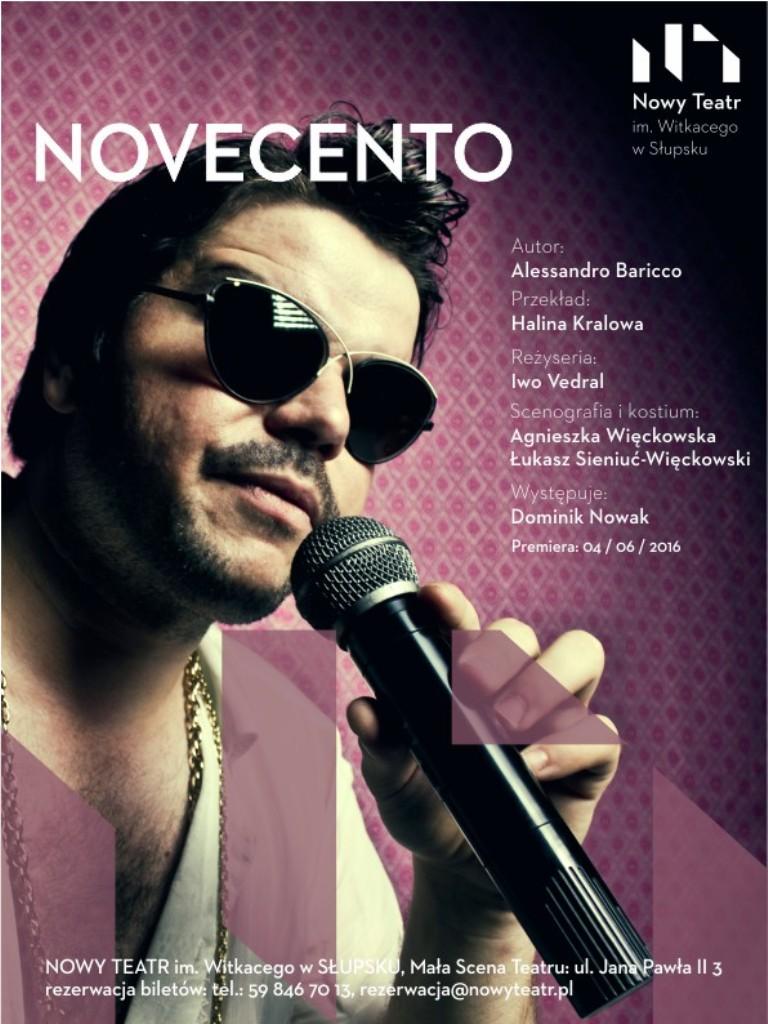 """""""Novecento"""", reż. Iwo Vedral – plakat (źródło: materiały prasowe organizatora)"""
