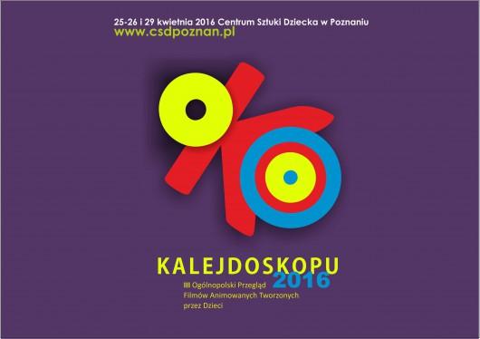 III Ogólnopolski Przegląd Filmów Animowanych Tworzonych przez Dzieci Oko Kalejdoskopu, plakat (źródło: materiały prasowe)