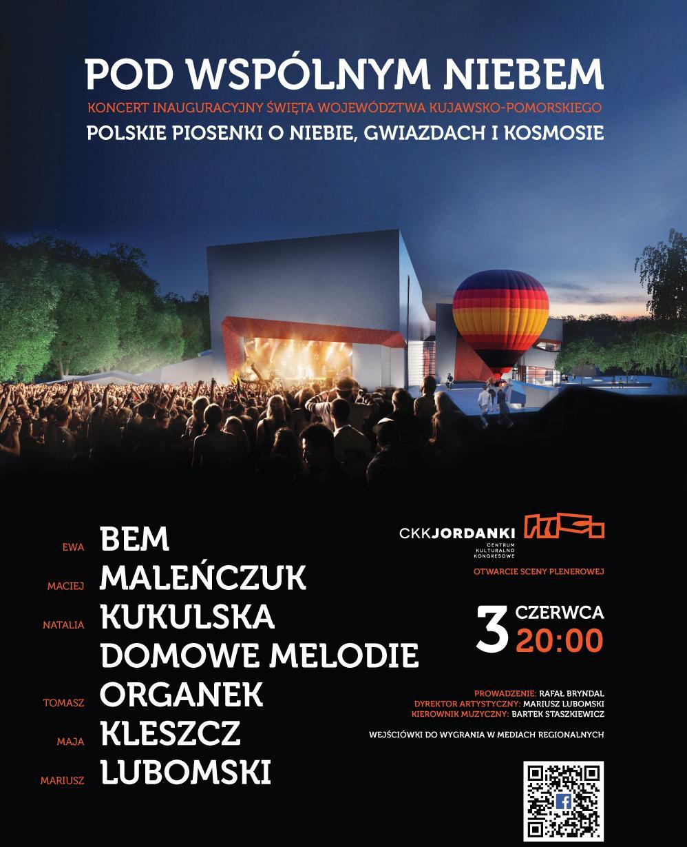 """""""Pod wspólnym niebem"""", plakat (źródło: materiały prasowe organizatora)"""