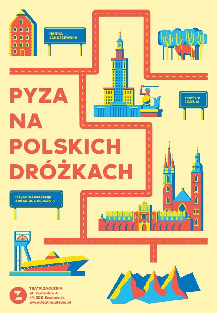 """""""Pyza na polskich dróżkach"""", autor plakatu Szymon Szewczyk, reż. Arkadiusz Klucznik (źródło: materiały prasowe organizatora)"""
