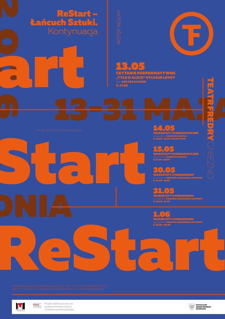 """""""ReStart – Łańcuch Sztuki. Kontynuacja""""– plakat (źródło: materiały prasowe organizatora)"""