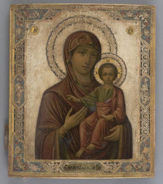 Smoleńska ikona Matki Bożej, pocz. XX wieku, Moskwa (źródło: materiały prasowe organizatora)
