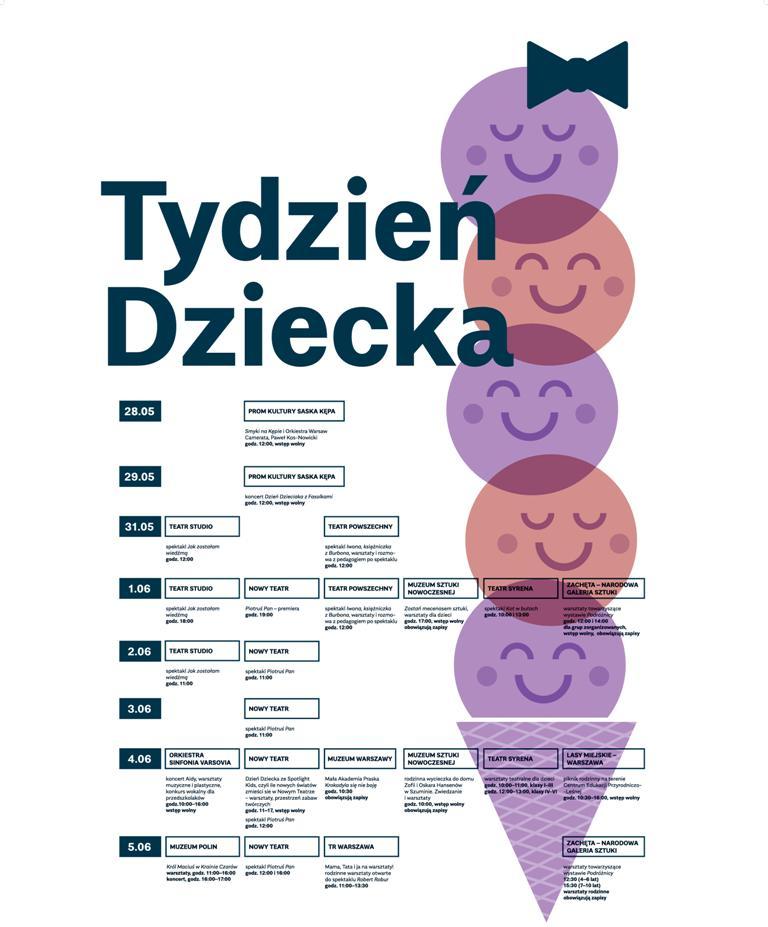 Tydzień Dziecka – plakat (źródło: materiały prasowe organizatora)