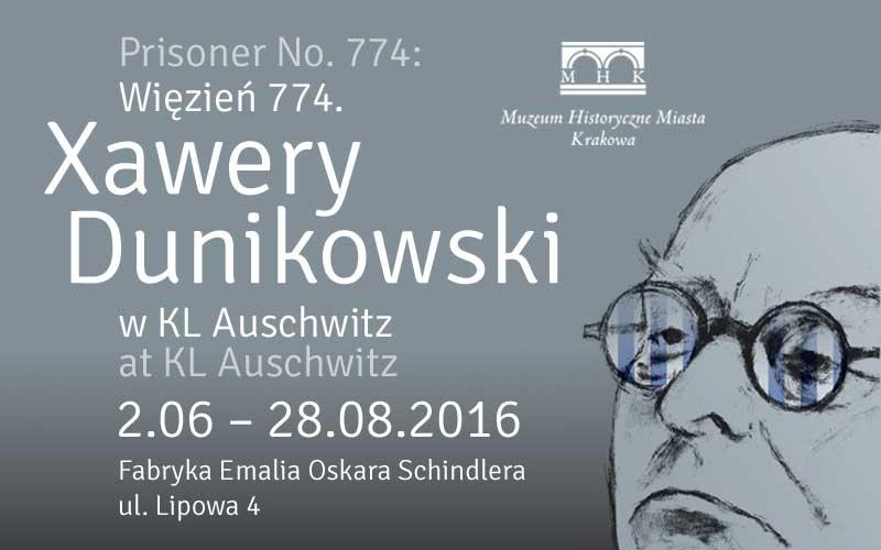"""""""Więzień 774. Xawery Dunikowski w KL Auschwitz""""– plakat (źródło: materiały prasowe organizatora)"""