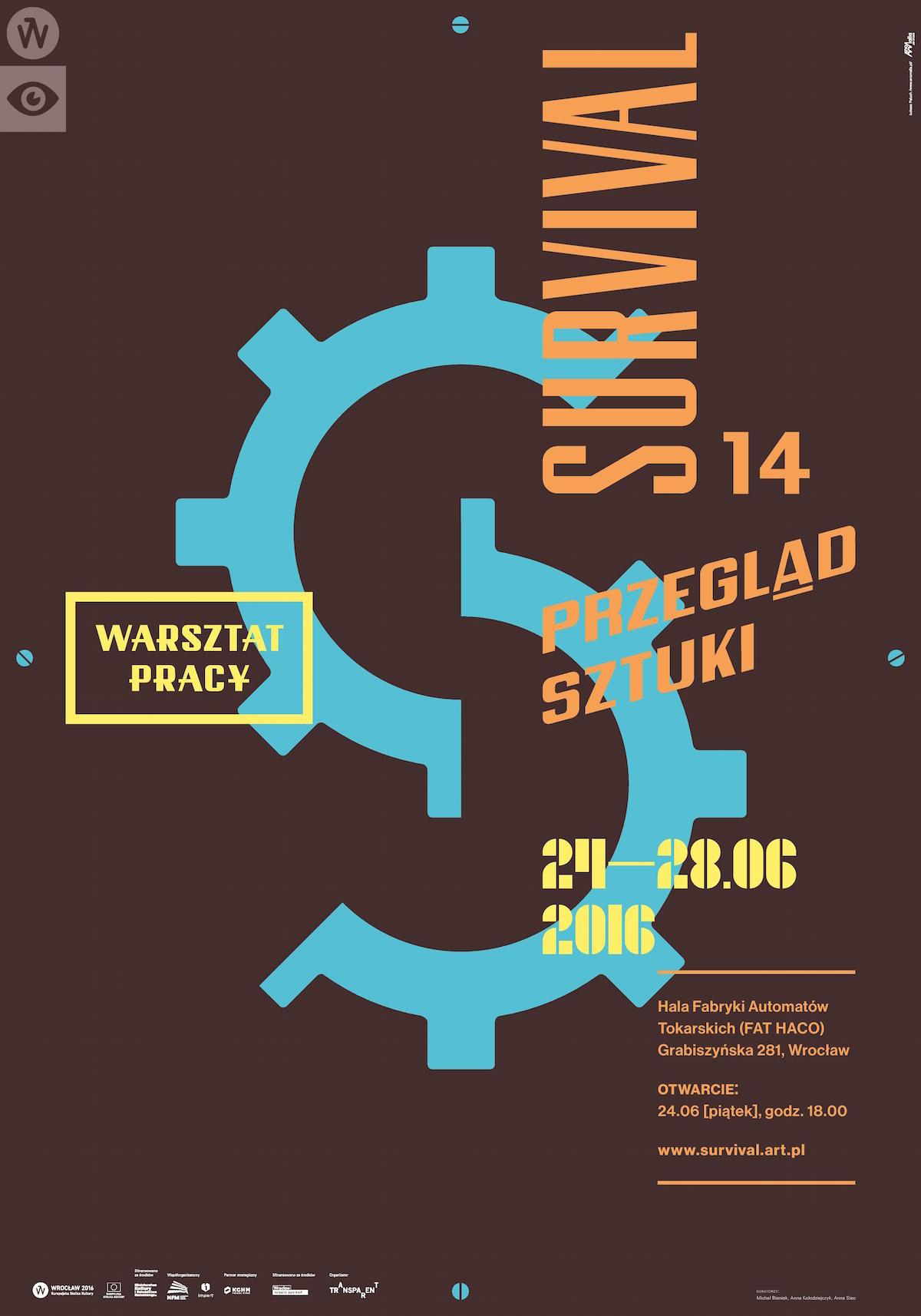 14. Przegląd Sztuki SURVIVAL – plakat (źródło: materiały prasowe organizatora)