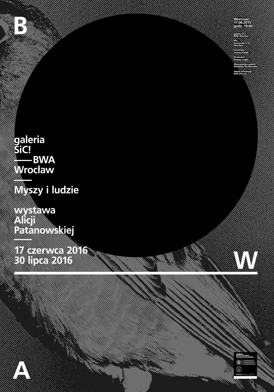 """Alicja Patanowska, """"Myszy i ludzie"""" – plakat (źródło: materiały prasowe organizatora)"""