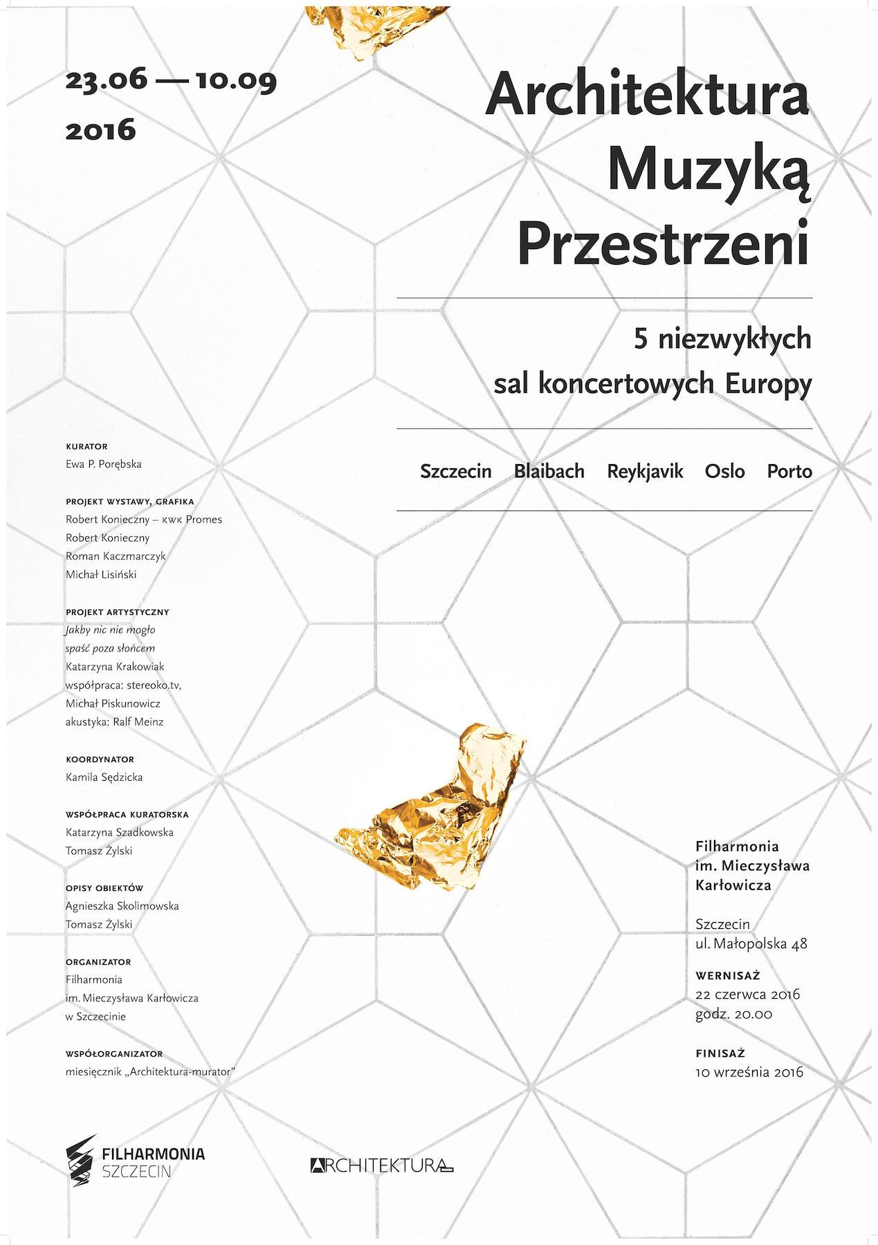 """""""Architektura Muzyką Przestrzeni"""" – plakat (źródło: materiały prasowe organizatora)"""