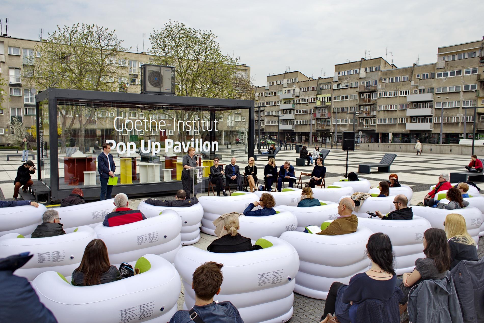 Goethe-Institut Pop Up Pavillon, fot. Artur Bryś (źródło: materiały prasowe organizatora)