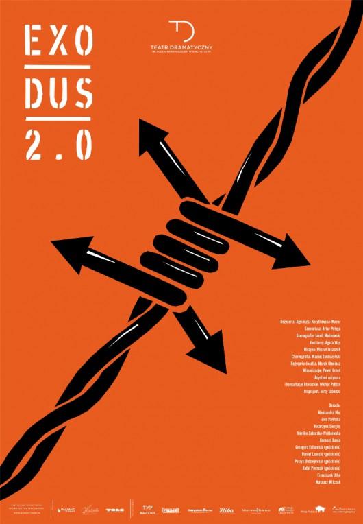 """""""Exodus 2.0."""", reż. Agnieszka Korytkowska-Mazur – plakat (źródło: materiały prasowe organizatora)"""