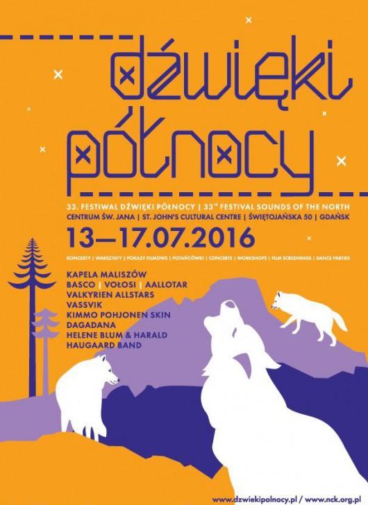 """""""Dźwięki Północy 2016"""" – plakat (źródło: materiały prasowe organizatora)"""