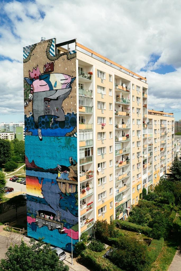 Mural autorstwa SAMBE84, Osiedle Zaspa w Gdańsku (źródło: materiały prasowe organizatora)