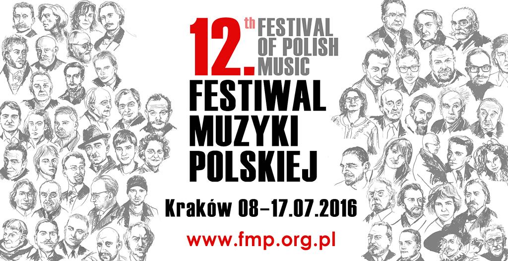 """""""12. Festiwal Muzyki Polskiej"""" – plakat (źródło: materiały prasowe organizatora)"""