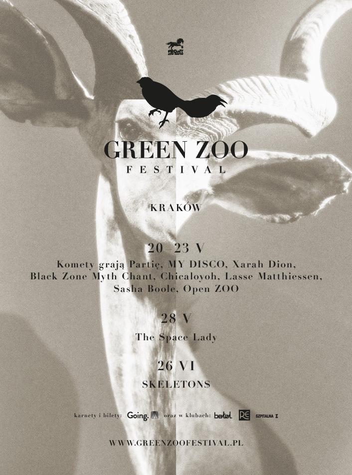 Green ZOO Festival – plakat (źródło: materiały prasowe organizatora)