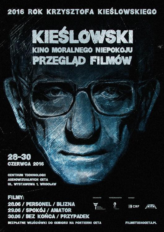 """""""Kieślowski. Kino moralnego niepokoju"""" – przegląd filmów, plakat (źródło: materiały prasowe organizatora)"""
