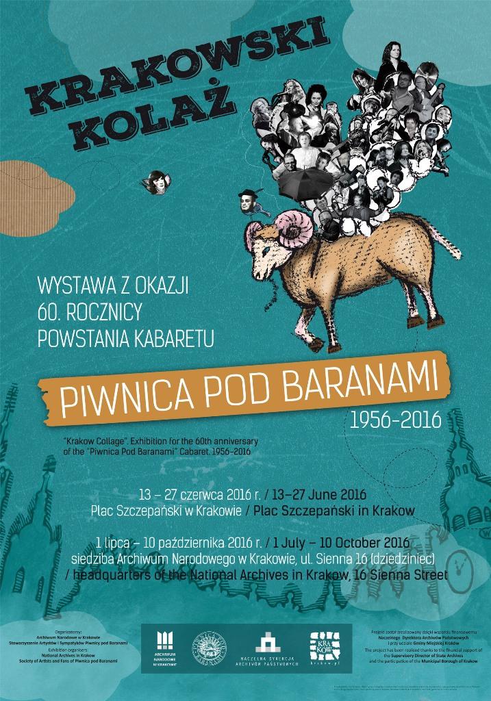 """""""Krakowski Kolaż"""", Piwnica pod Baranami – plakat (źródło: materiały prasowe organizatora)"""