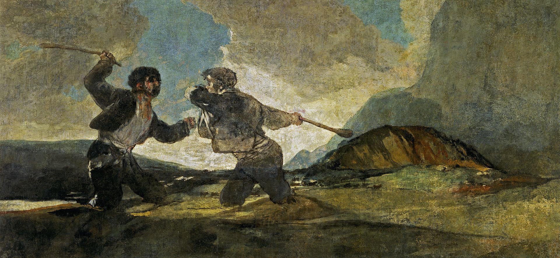 """Francisco Goya, """"Okładający się kijami"""" (źródło: materiały prasowe organizatora)"""