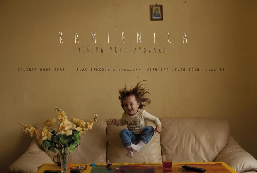 """Monika Krzyszkowska – """"Kamienica"""", plakat (źródło: materiały prasowe organizatora)"""