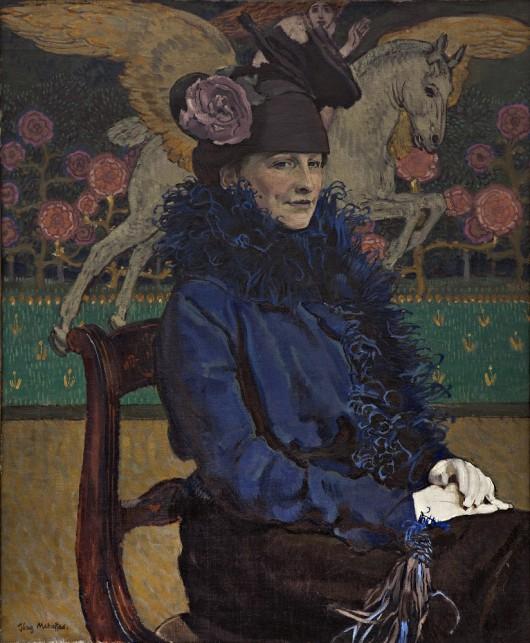 """Józef Mehoffer, """"Portret żony artysty z pegazem"""", 1913 (źródło: materiały prasowe organizatora)"""