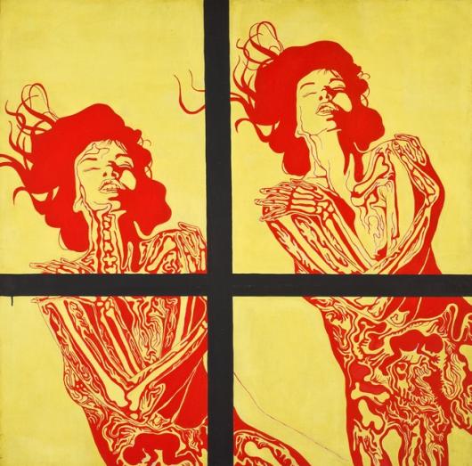 """Jan Dobkowski, """"Płonące kobiety, czyli Rozkosz"""", 1967 (źródło: materiały prasowe organizatora)"""