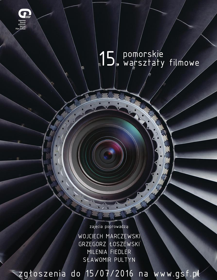 15. Pomorskie Warsztaty Filmowe – plakat (źródło: materiały prasowe organizatora)
