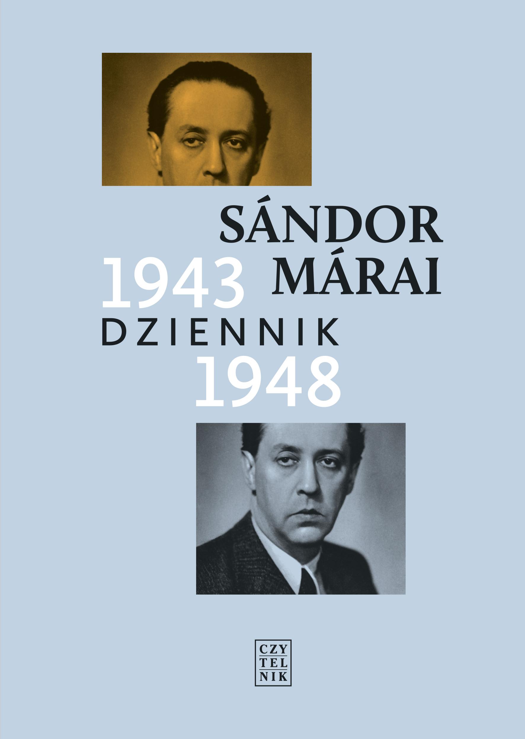 """Sandor Marai, """"Dziennik 1943–1948"""" – okładka książki (źródło: materiały prasowe wydawcy)"""