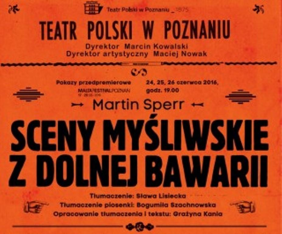 """""""Sceny myśliwskie z Dolnej Bawarii"""", reż. Grażyna Kania (źródło: materiały prasowe organizatora)"""