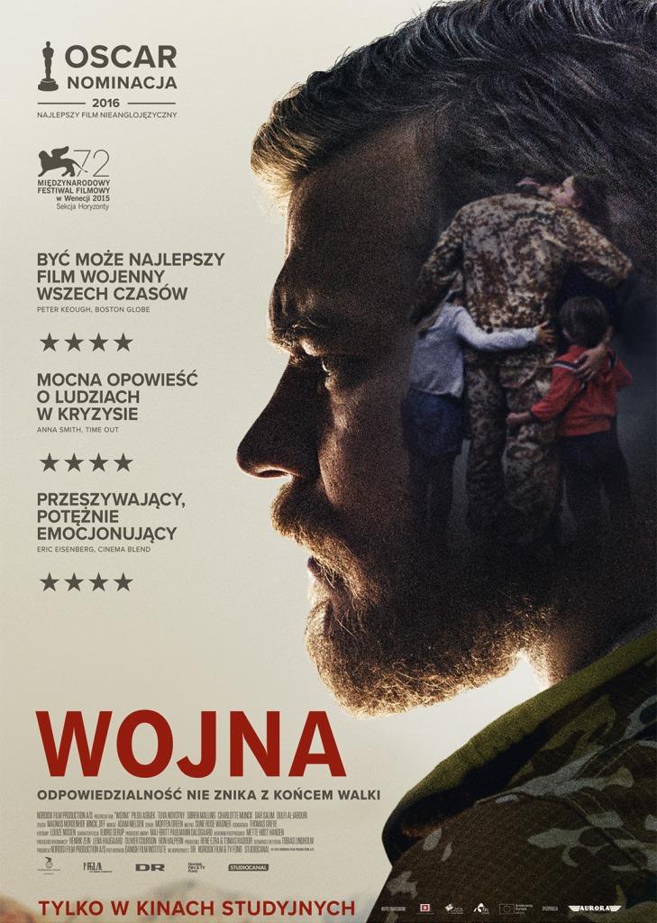 """""""Wojna"""", reż. Tobias Lindholm – plakat (źródło: materiały prasowe dystrybutora)"""