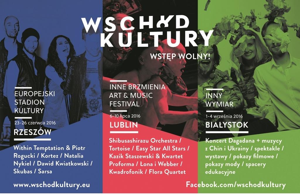 Wschód Kultury Europejskiej Stadion Kultury – plakat (źródło: materiały prasowe organizatora)