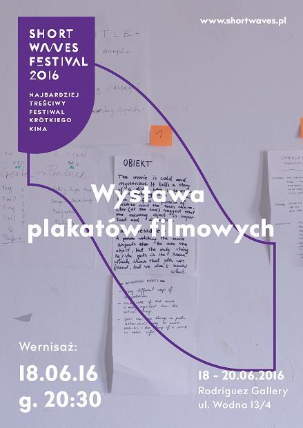 Short Waves Festival 2016: Wystawa plakatów filmowych – plakat (źródło: materiały prasowe organizatora)