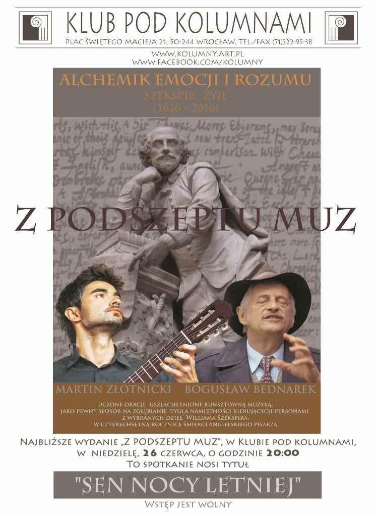 """""""Z podszeptu muz"""", Bogusław Bednarek, Martin Złotnicki (źródło: materiały prasowe organizatora)"""