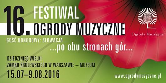 """""""16. Festiwal Ogrody Muzyczne"""" – plakat (źródło: materiały prasowe organizatora)"""