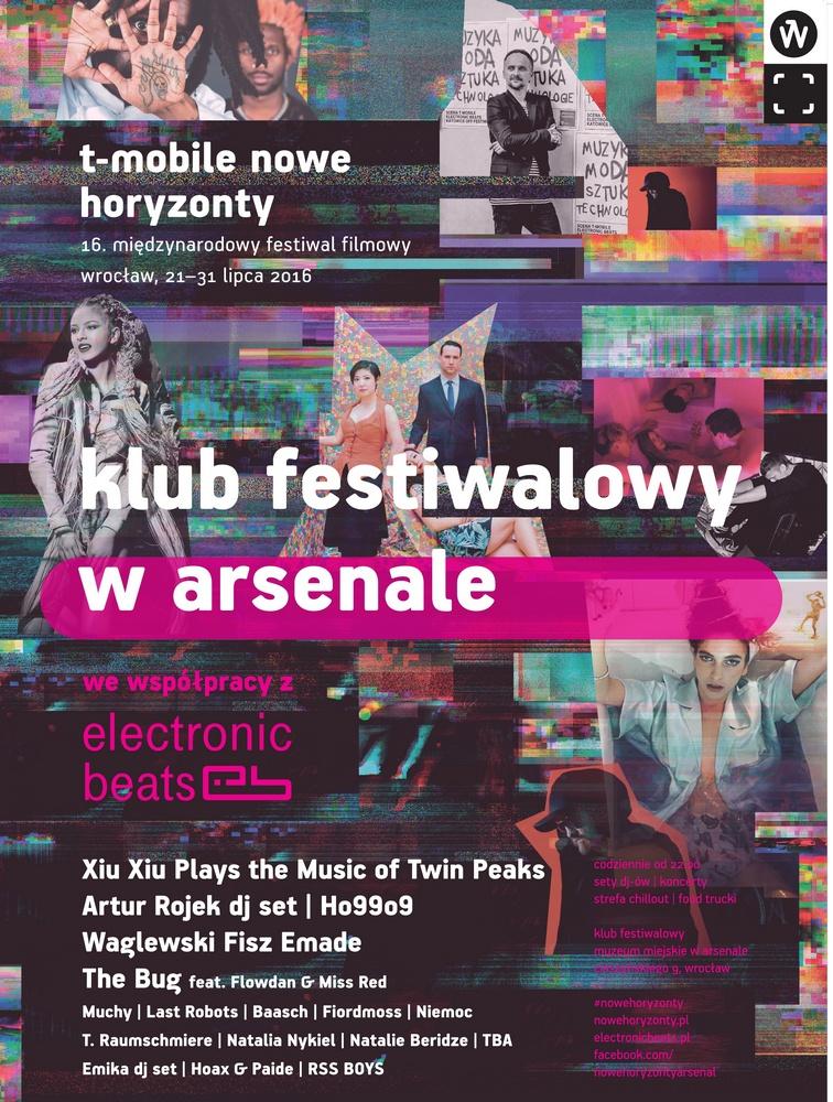 """""""16. Międzynarodowy Festiwal Filmowy T-Mobile Nowe Horyzonty"""" – plakat (źródło: materiały prasowe organizatora)"""