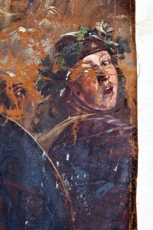 """Wilhelm von Lindenschmit, """"Alaryk w Rzymie"""" w trakcie konserwacji (źródło: materiały prasowe organizatora)"""
