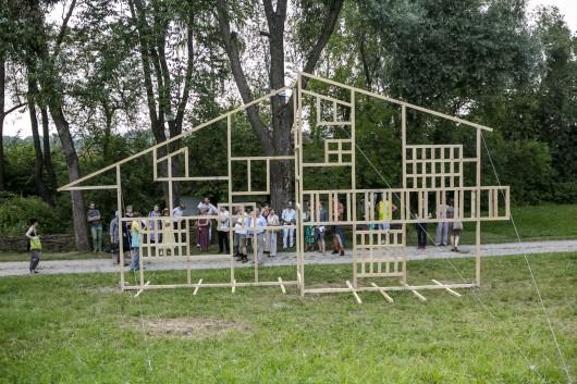 "Agata Biskup, ""Fasada"", 2016, fot. Piotr Droździk (źródło: materiały prasowe organizatora)"