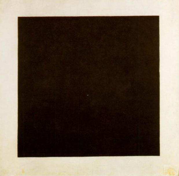 """Kazimierz Malewicz """"Czarny kwadrat na białym tle"""" 1915 (źródło: materiały prasowe organizatora)"""