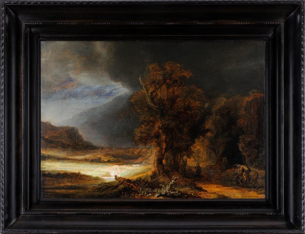 """Rembrandt van Rijn, """"Krajobraz z miłosiernym Samarytaninem"""" 1638 r. (źródło: materiały prasowe organizatora)"""