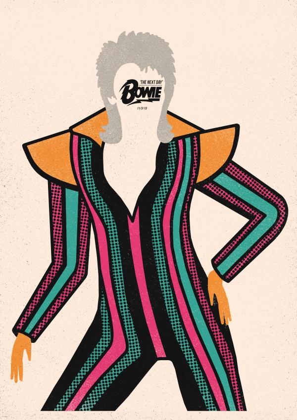 David Bowie, plakat Dawida Ryskiego (źródło: mat. pras. organizatora)