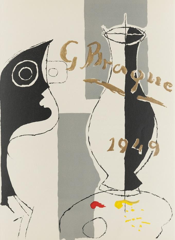 """Georges Braque, Litografia z czasopisma """"Derriere le miroir"""", 1962/1963, Muzeum Marca Chagalla w Witebsku (źródło: materiały prasowe organizatora)"""
