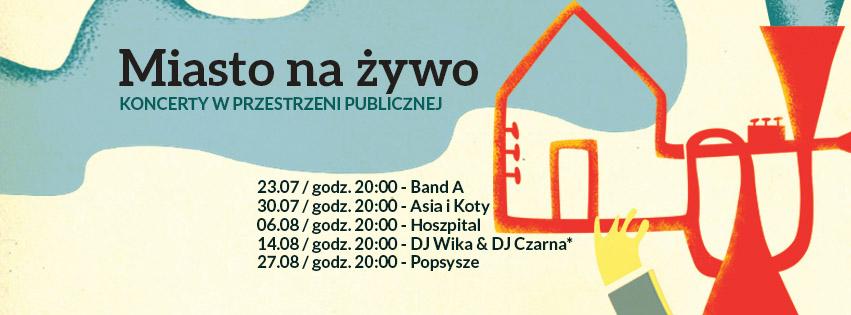 """""""Miasto na Żywo"""" – plakat (źródło: materiały prasowe organizatora)"""