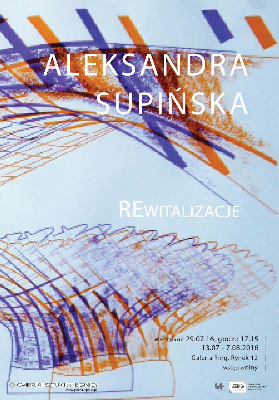 """Aleksandra Supińska, """"REwitalizacje"""" – plakat (źródło: materiały prasowe organizatora)"""