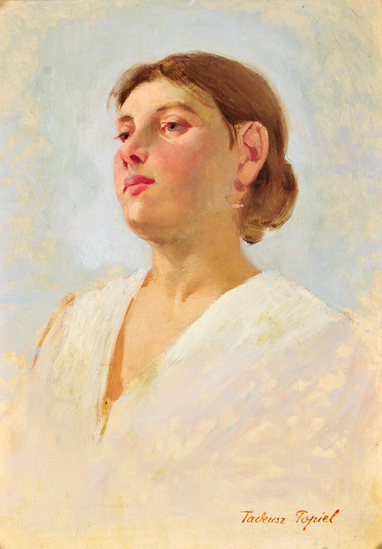 """Tadeusz Popiel """"Portret młodej kobiety"""" (źródło: materiały prasowe organizatora)"""