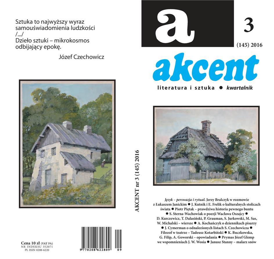 """Kwartalnik """"Akcent"""" (źródło: mat. pras. wydawcy"""