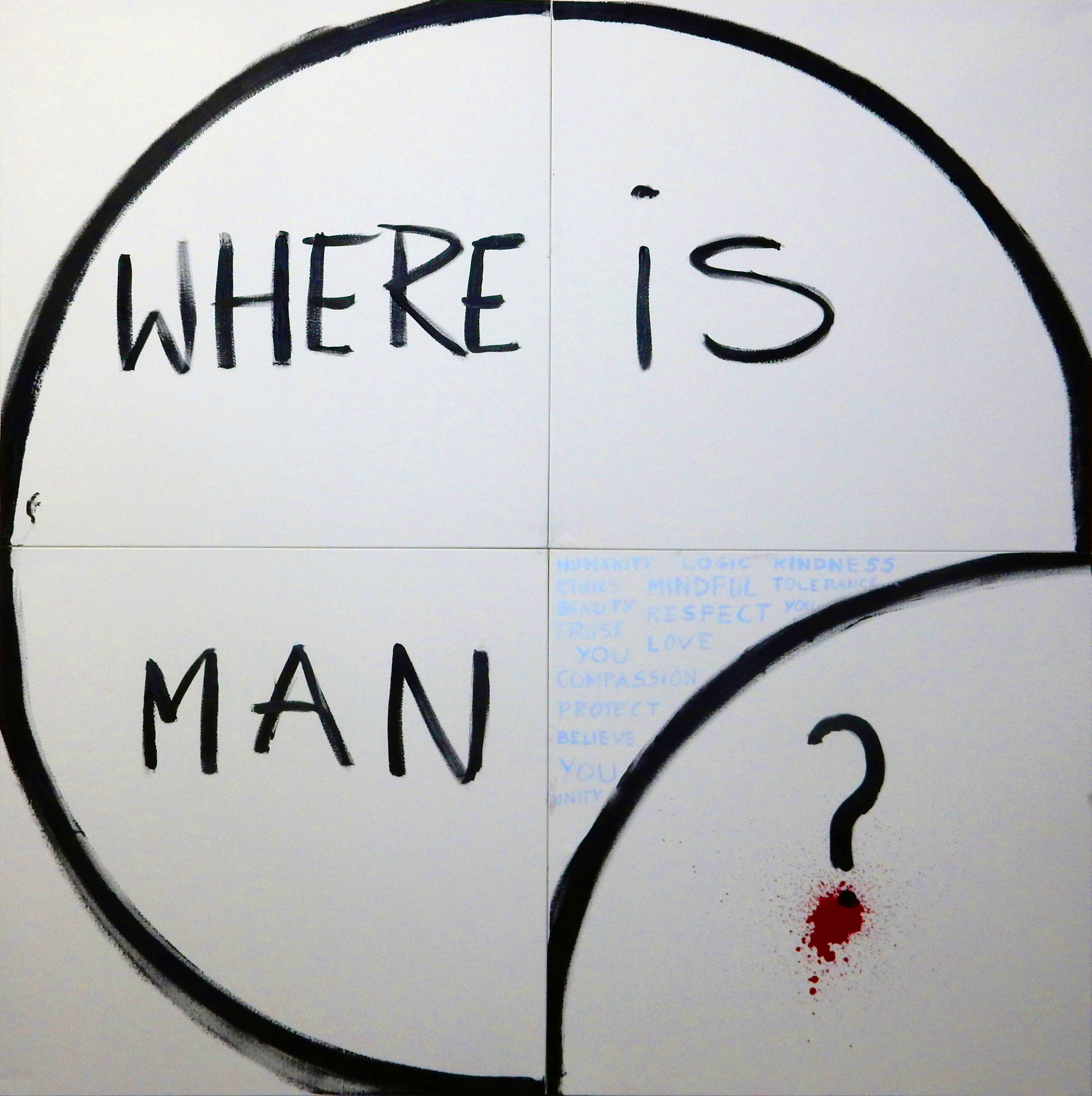 """Carolina Khouri, """"Gdzie jest człowiek?"""", 2016 (źródło: materiały prasowe organizatora)"""