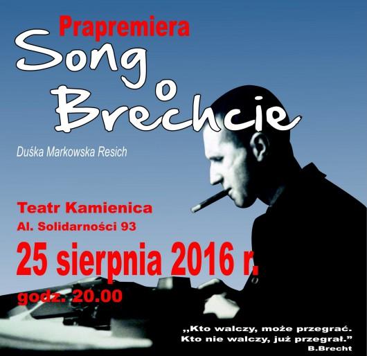 """""""Song o Brechcie"""" – plakat (źródło: materiały prasowe organizatora)"""