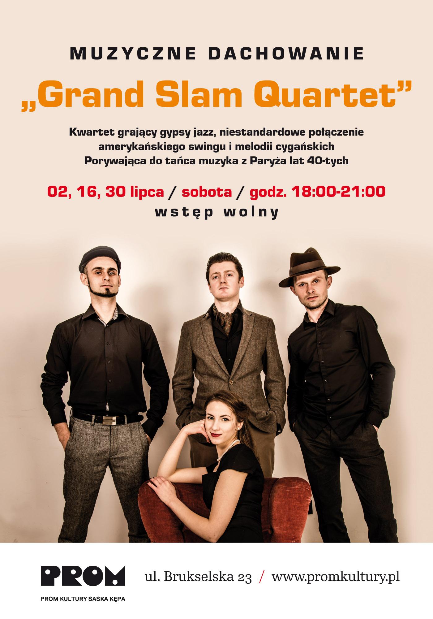 Grand Slam Quartet – plakat (źródło: materiały prasowe organizatora)