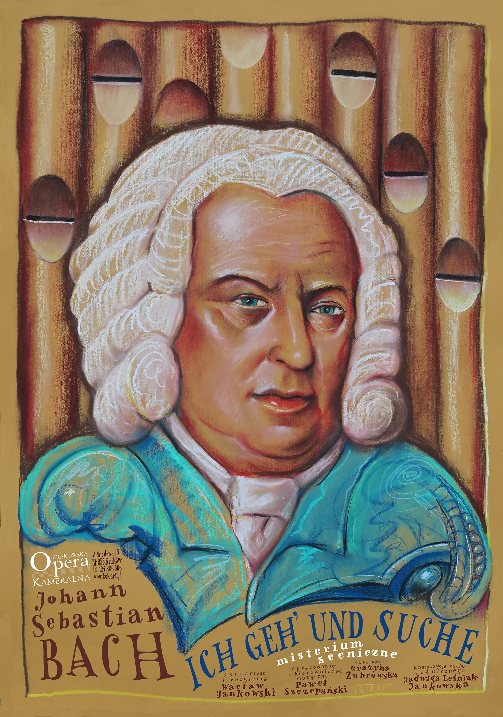 """""""Misterium sceniczne Bacha"""" – plakat (źródło: materiały prasowe organizatora)"""