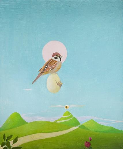 """Kazimierz Mikulski, obraz prezentowany na wystawie """"Surrealizm i realizm magiczny"""" (źródło: materiały prasowe organizatora)"""