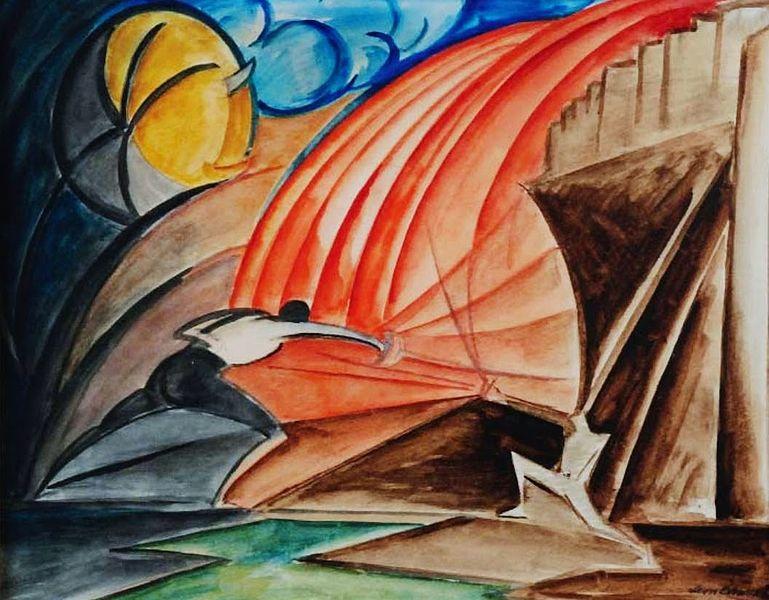 """Leon Chwistek, """"Szermierka"""", 1925 (źródło: creative commons)"""